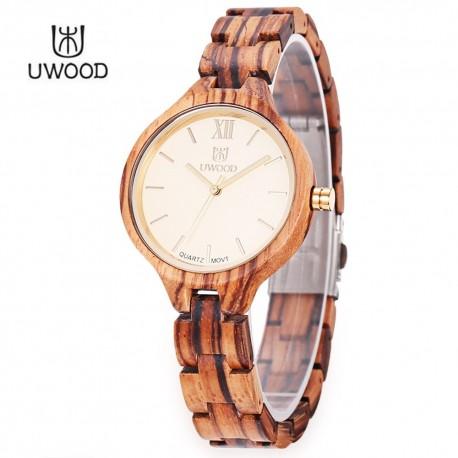 Dřevěné hodinky Moncon zebra
