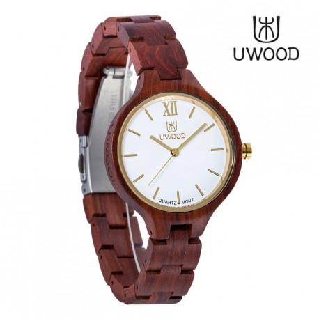 Dřevěné hodinky Rosso