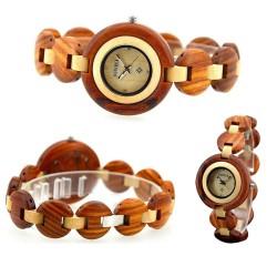 Dřevěné dámské hodinky Perlina