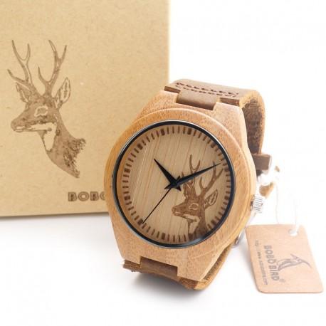 Dřevěné hodinky Bamboo