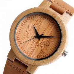 Dřevěné hodinky motiv Srnce