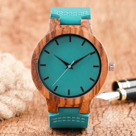 Dřevěné hodinky Verde