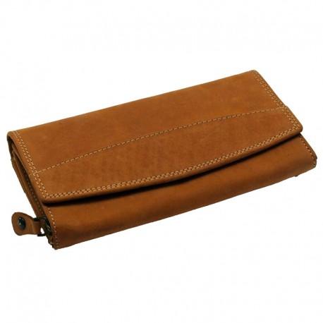 Dámská peněženka z kůže - hnědá