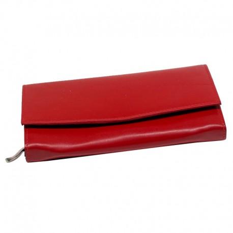 Dámská peněženka z kůže - rudá