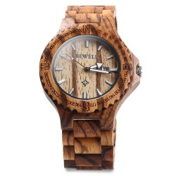 Dřevěné hodinky Slenders zebra